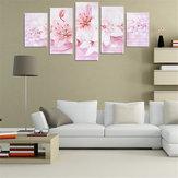 5pcs lirios sin marco modernas pinturas cuadro de la pared de la lona de pintura mural de la decoración del hogar