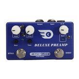 Pedal de efectos de guitarra Mosky Deluxe Preamp 2 en 1 Boost Classic Overdrive Effects Carcasa de metal con accesorios de guitarra True Bypass