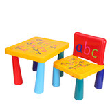 2pcs Household Plastic Table & Chairs DIY Kids Set Play Activity Baby Painting Learning Plastic Toys Desks And Chairs