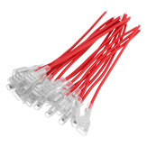 Excellway® 20pcs 18AWG 6.3mm Terminal Connector Spade Crimp Terminals Wire Single Head
