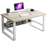 Standing Computer Desk Simple and Modern Writing Desk Dormitory Desk with Storage Board for Student