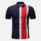 Muscle Fit Color Block Regular fit golfshirt met korte mouw