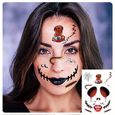 Halloween Tatuaggio Adesivi Scary Halloween Temporary Face Tatuaggios Terror Wall Sticker Halloween Festival Descoration