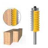 Broca de enrutador de junta en V de múltiples dientes de vástago de 8 mm para cortador de ranurado de cono de espiga de madera cortador de empalme de onda