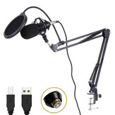 HZM&C BM-800USB Professional 192KHz/24Bit HD Free Drive USB Condenser Microphone Kit with Stand Mount