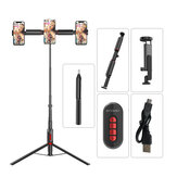 BlitzWolf® BW-BS11 All In One Bluetooth Remote Live Light Tripod Multifunctionele Selfie Stick voor YouTube Tiktok Makeup Phone Camera