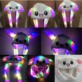 LED Lamba Tavşan Kulak Şapka Hava Yastığı Kap Taşıyabilir 60 CM Elektrikli Dolması Peluş Hediye Sevgililer Dans Oyuncak