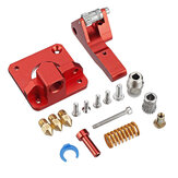 Dual Gear Pulley Dual Drive Extruder Kit + 3Pcs MK8 1.75/0.4MM Brass Nozzle Accessories Kit for 3D Printer