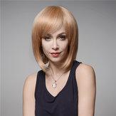Elegancka peruka z ludzką peruką Virgin Bang Remy Mono Top Bez kaptura 32cm