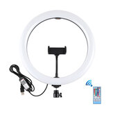 PULUZ PU458B 11.8 inch 30cm RGBW Dimmable LED Ring Light for Video Live Broadcast Selfie Photography with Remote Control