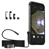 Ulefone Armor 9/9E 3 in 1 Borescope IP67 Waterproof 2M 5.5MM 6 LED Lights Adjustable Brightness Inspection Camera