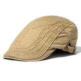 Mens Letter bordado algodón boinas sombreros hebilla ajustable visor deporte Forword Caps