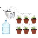 Enchufe de la UE Wifi Dispositivo de riego de control Sistema automático de riego por goteo de agua Kit de sistema de riego WIFI Control de aplicación móvil Doble bomba de jardín
