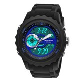 SANDA 769 Sport Men Watch Luminous Date Week Display Dual Time Waterproof Outdoor Digital Watch