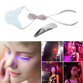 LED Cílios Pálpebras falsas Cílios Unisex LED Light Eye Lash Para Ícone da moda Bar Pub Bar Club Party Navio rápido