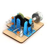 Giocattolo scientifico di esperimento del motore di fisica di DIY di conversione di energia del generatore dell'orologio scientifico