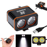 XANES 1200LM 2xT6 LED 4-Mode Waterproof Sepeda Light Kontrol Suhu Display Daya Tidak Batt