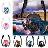 Antifog Double Tub Full Face Snorkel Scuba Diving Mask Swim andningsglasögon med kamera mount