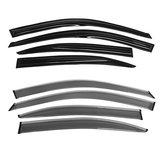 Chrome Black Car Window Vent Visor Rain Guards Sun Rain Wiper Shield For Hyundai Elantra