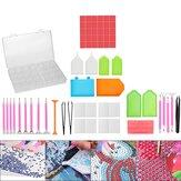 60 Pcs 5D LED Diamond Painting Sets Pen Cross Stitch Tools Kit + Glue + Stickers DIY Tools
