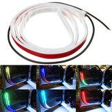 12 فولت 120 سنتيمتر RGB LED أضواء قطاع السيارات مرنة ضد للماء باب السيارة الديكور جو تحذير غاسل مصابيح