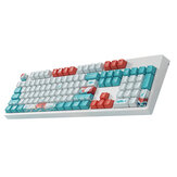 104 Tasten Coral Sea Keycap Set OEM-Profil PBT Dye-Sublimation Suspension Keycaps für mechanische Tastaturen mit 87/104 Tasten