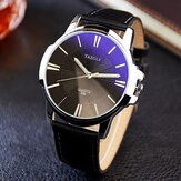 YAZOLE 332 Fashion Simple Style Business Men Wrist Watch Skórzany zegarek kwarcowy