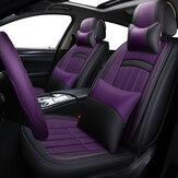 Universal 5 assentos de carro PU resistente ao desgaste assento de couro conjunto de capa completa todas as estações