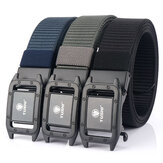 TUSHI Metal Press Schnallengürtel Tactical Waist Belt für Herren 120CM 3.5CM, Leisure Nylon Belt, Punch Free Automatic Buckle