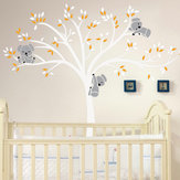 Mural extraíble Koala Tree etiqueta de la pared calcomanías para niños Home Room Nursery