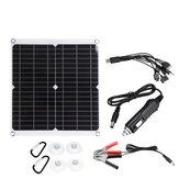 18V 50W PV Солнечная Панельное зарядное устройство Набор Монокристаллические Солнечная Панели с переходным кабелем 10 в 1