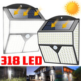 318LED Solar Light Infrared Motion Sensor Garden Security Wall Lamp for Outdoor Yard Patio