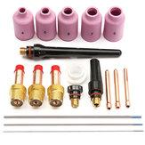 18pcs saldatura TIG kit di lenti gas torcia per wp-17 wp-18 wp-26 lanthanate tungsteno