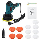 700W Mini 5 Inch Electric Car Polisher Machine Buffer Polishing Sponge Pads Kit Tools