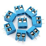 100pcs 2 Pin Plug-In Screw Terminal Block Connector 5.08mm Pitch