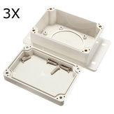 3Pcs blanc en plastique imperméable à l'eau boîtier électronique PCB Box 100x68x50mm
