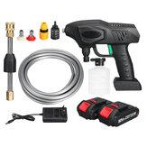 Lavadora de alta pressão sem fio 900W Bateria Indicador Máquina de lavar roupa Pistolas pulverizadoras de água com 1/2 Bateria para Makita