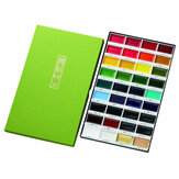 مجموعة ألوان مائية مكونة من 36 لونًا صندوق رسم مجموعة ألوان مائية صلبة مستلزمات طلاء قرطاسية فنية للصباغ