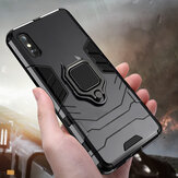Bakeey Armor Shockproof Magnetic with 360 Rotation Finger Ring Holder Stand PC Protective Case for Xiaomi Redmi 9A Non-original