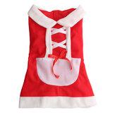 Pet Puppy Dog Cat Christmas Santa Claus Dress Clothes Costume Coat Apparel Coats