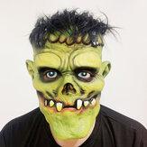 Зеленый зомби страшное лицо Маска для игрушек на Хэллоуин