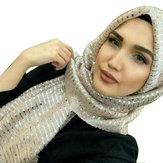 Mulheres lantejoula árabe Chapéu árabes envoltório cachecol turbante Chapéu