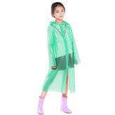 PEVA Children Raincoat Camping Travel Thicken Disposable Raincoat Poncho