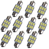 31mm 5630 6-SMD Adorno LED Mapa Interior Dome Bombilla DE3175 3022 3021 2W Blanco 10PCS