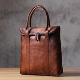 الرجال بو الجلود الصلبة اللون ريترو نمط الأعمال 13.3 بوصة أزياء حقيبة كمبيوتر محمول حقيبة يد
