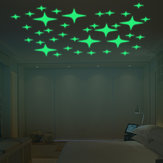 Honana DX-168 22PCS Fluorescente Brilho Piscando Stars Wall Sticker Home Decor Quarto