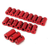 Aluminum Alloy Coupling Red Shaft Coupler with Hex Wrench and Screws Motor Coupler Connector