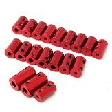 Alüminyum Alaşımlı Kavrama Kırmızı Şaft Kuplörü Onaltılı Somun Anahtarı ve Vidalı Motor Kuplaj Konektör