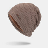 Men Wool Plus Thick Winter Keep Warm Windproof Ear Protection Knitted Hat Beanie Toque Hat