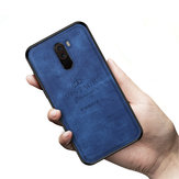 PINWUYO Fabric Splice Soft Edge Shockproof Back Cover Protective Case for Xiaomi Pocophone F1